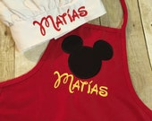 Mickey Boy Personalized Toddler Apron with Chef Hat