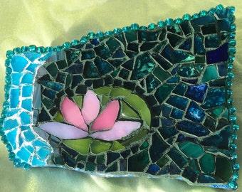 Mosaic Lotus Flower Lily Los Angeles California Beach Rock
