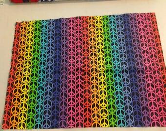 Rainbow Peace Sign Fabric  245443
