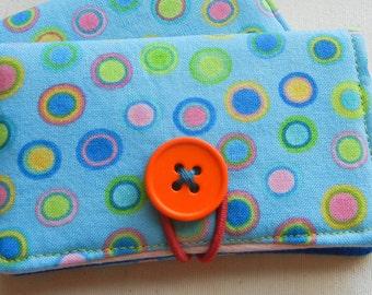 Blue Polka Dot Fabric Gift/Business/Loyalty Card Holder
