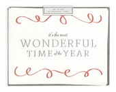 Most Wonderful letterpress card - set of six