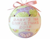 New Pink Baby's 1st Christmas 2016 Ornament by CraftCrazy4U
