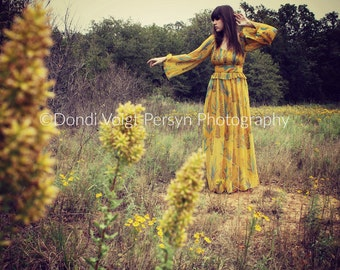 BOHEMIAN photograph citron yellow  ethereal beauty free spirit  model  southwest  art apartment therapy home  decor