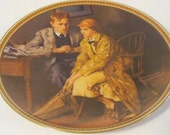8.5 inch Plate Norman Rockwell Rediscovered Women 'Confiding In The Den', Collectable Plate