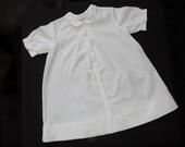 50s white newborn gown hand embroidered feltman bros. snowman baby dress