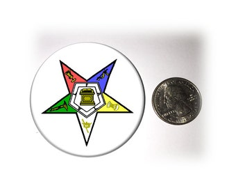 Order of Eastern Star Refrigerator Magnet 2 1/4 inches in diameter Masonic Refrigerator Magnet OES Magnet