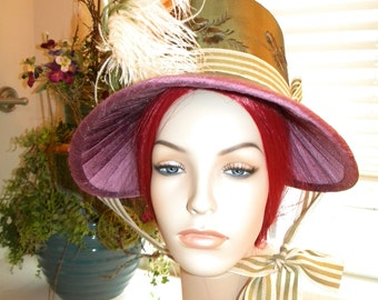 Regency Era Bonnet, Jane Austen, Pride & Prejudice , Custom, Handmade - MADE TO ORDER