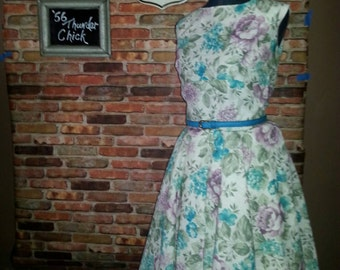 Rockabilly clothing/Floral Swing dress/woman's clothing/made to order