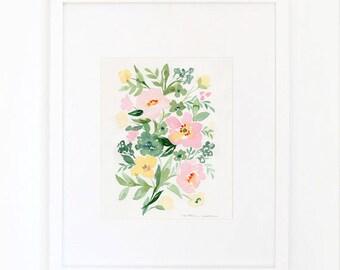 Anemone Blush Pink Roses Print