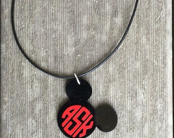Personalized Acrylic Mickey Necklace