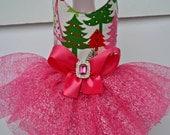 Dog Dress Tutu Harness Christmas Trees - Version 2