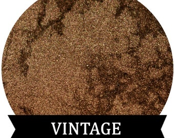 Dark Gold Eyeshadow mineral makeup VINTAGE