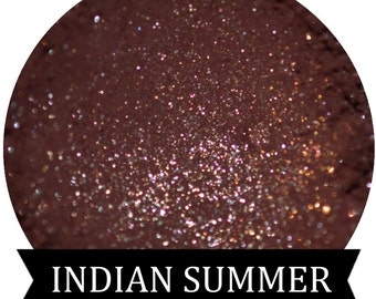 INDIAN SUMMER  Maroon Eyeshadow with Gold Sparkle