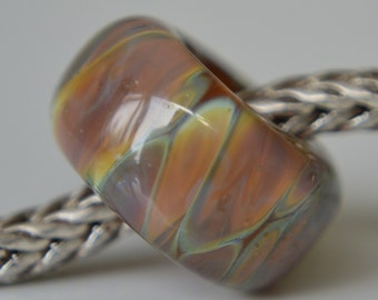 Silver Core Options - Handmade Lampwork Glass European Charm Bead with Silver Glass - SRA - Fits all charm bracelets