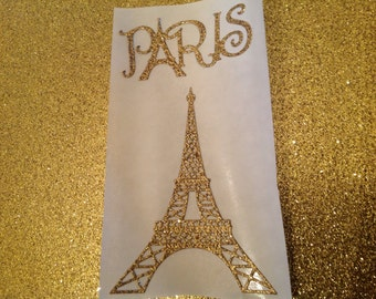 Large   Paris and Eiffel Tower Stickers 10 pc set