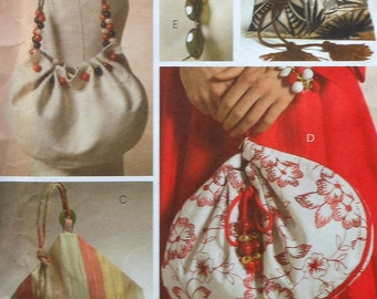 Handbag Sewing Pattern UNCUT McCalls M5340 handbags purse purses