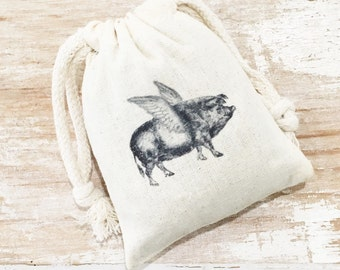 Lavender Sachet - French Lavender - Gifts For Mom - Sachets - French Country - French Farmhouse - Aromatherapy - Flying Pig - Herb - Garden