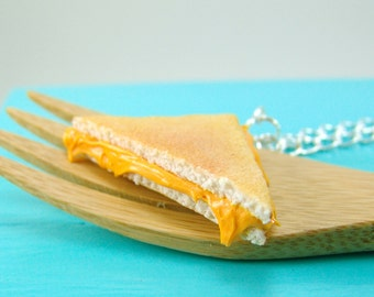 Sandwich Necklace // Statement Necklace // Grilled Cheese Necklace Food Jewelry // READY TO SHIP