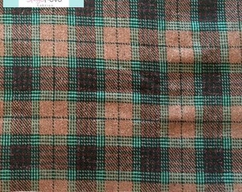 Plaid Tweed Fabric, 1 yard