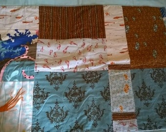 Heather Ross and Moda With Organic Bamboo/Cotton batting Quilt