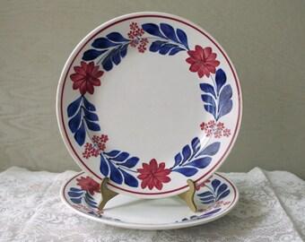 Antique Ironstone Shallow Bowls / Plates - Societe Ceramique Maastricht Holland Lot of 2