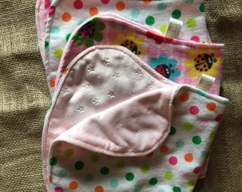 Burp Cloths, Bibs, and Blanket Soft and Cuddly Gift Set for Baby Girl