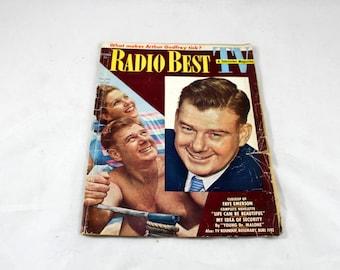 Vintage Radio Best TV & Television Magazine. October 1950. Arthur Godfrey, Janette Davis, Faye Emerson, Burl Ives, Mid Century Stars, Celebs