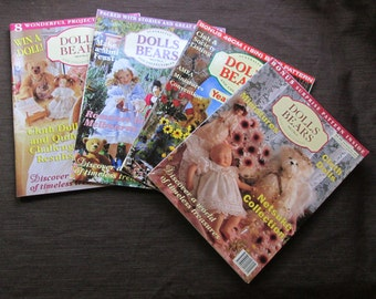 Dolls Bears and Collectables Magazine Vol. 4 No. 1, 4 & 5, Vol 3 No.4