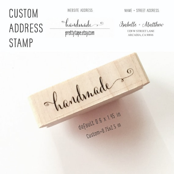 Calligraphy Handmade Stamp Custom Stamp Return Address Stamp