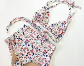Floral high waist swimsuit