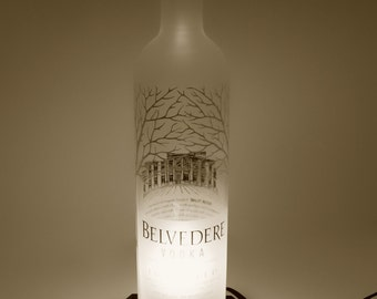 Belvedere Vodka Custom Crafted Bottle Light