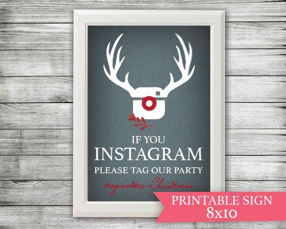 Items similar to instagram sign hashtag christmas for Decor hashtags