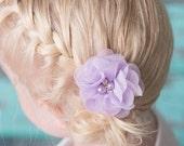 Lavender clips, flower hair clip, piggy tail hair clip, cake smash outfit, baby hair clip, hair bow, hair accessories, flower girl hair clip