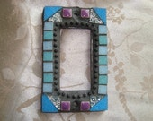 MOSAIC Outlet Cover or Switch Plate, GFI Decora, Shades of Blue, Lavender, Silver