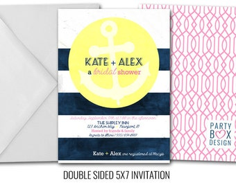 Nautical Bride (20 printed 5x7 invites)