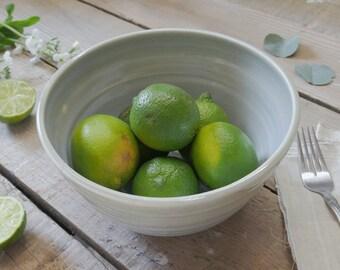 Handmade Blue Ceramic Serving Bowl