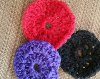 Set of three kitchen scrubbies