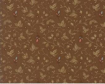 Gratitude Cocoa Brown Floral 38004 16 Jo Morton Moda Floral Fabric