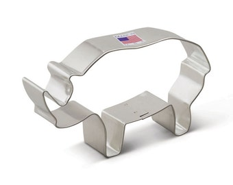 Rhino Cookie Cutter, Rhinocerous Cookie Cutter, Animal Cookies