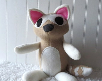 Tan Raccoon Plush, Plush Raccoon, Woodland Plush