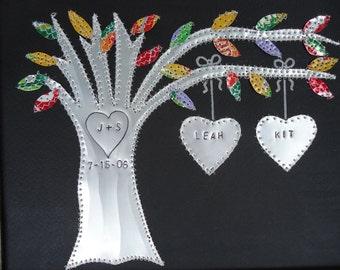 Tin Anniversary Gift - 10 year Wedding Anniversary - Wedding Gift - Personalized