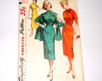 Vintage Simplicity Dress Pattern 1447 • size 12 . bust 30