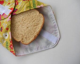 Spring Flowers Reusable Sandwich Wrap
