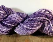Handspun Yarn, Hand Dyed Yarn, Bulky Yarn, Merino Wool Yarn - Concords and Cream - 2 Ply Yarn