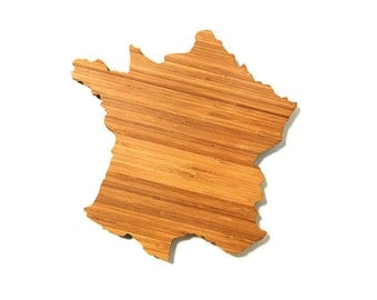 France Cutting Board, Father's Day Gift,   Unique Wedding Gift, Personalized Gift, Summer Wedding GIft, Graduation Gift