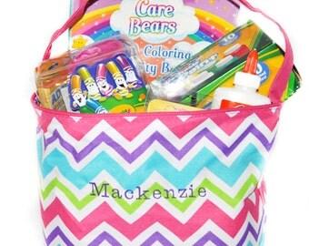 Chevron Easter Basket, Personalized Chevron Bag, Easter Basket, Chevron Easter Basket, Personalized Easter Basket, Embroidered Easter Basket
