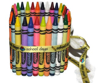 Crayon Pencil Vase, Teacher Appreciation Gift.