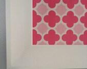 Valentine's corkboard magnetboard Shabby Chic pinboard quatrefoil pinks girls room home decor