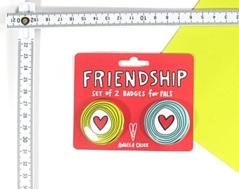 Friendship Badge Set of 2