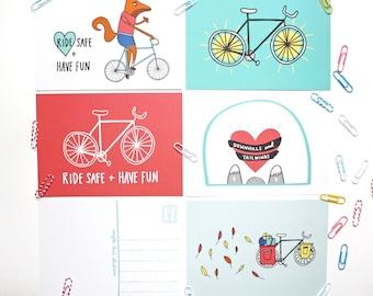 Cycling Postcard Set
